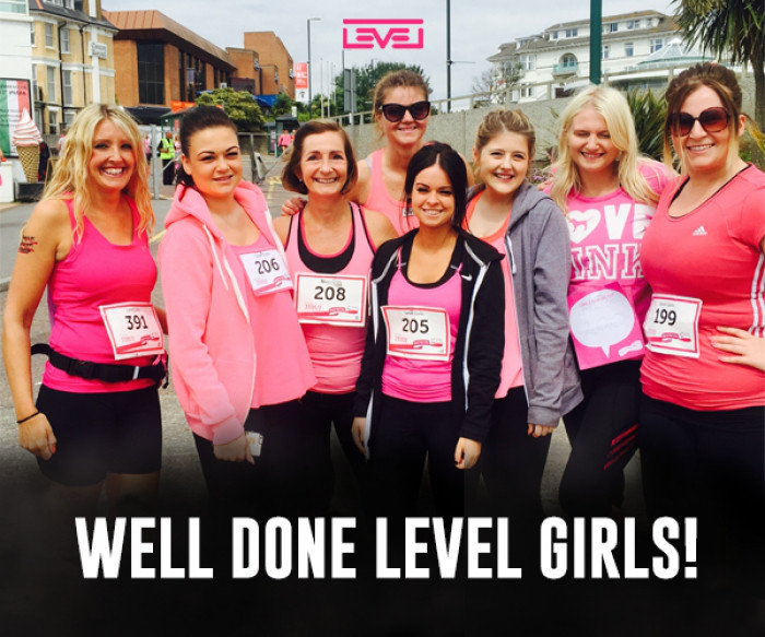 Level Girls ran 5k for Race For Life